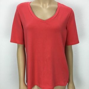 NWT Chico's Adriana Elbow V Neck Top Size 2